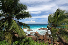 Anse Patates. La Digue Island Royalty Free Stock Images