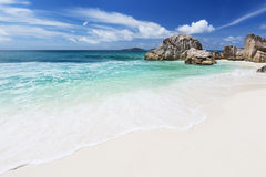 Anse Patates, La Digue, Seychelles Royalty Free Stock Photos