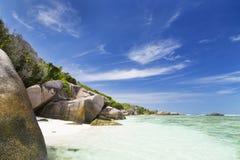 Anse Pierrot, Ла Digue, Сейшельские островы Стоковые Фотографии RF