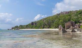 Anse Pierrot on La Digue Seychelles stock images