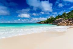 anse praslin του Λάτσιο νησιών Οι Σεϋχέλλες Στοκ εικόνα με δικαίωμα ελεύθερης χρήσης