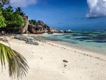 Anse ?r?d?a d ?Argent pla?a, losu angeles Digue wyspa, Seychelles zdjęcie royalty free