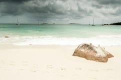anse seascape lacio ύδωρ πετρών ουρανού των Σεϋχελλών Στοκ εικόνα με δικαίωμα ελεύθερης χρήσης