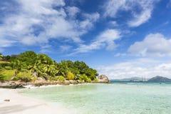 Anse severo, La Digue, Seychelles fotografía de archivo