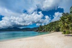 Anse Soleil tropisk strand, Mahe ö, Seychellerna Royaltyfria Foton