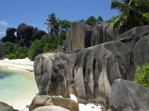 Anse Source d'Argent. The most popular beach on the island> La Digue at Seychelles Stock Image