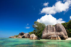 Anse Source d Argent beach Royalty Free Stock Photo