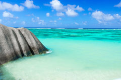 Anse Source d'Argent - Beach on island La Digue in Seychelles Stock Images