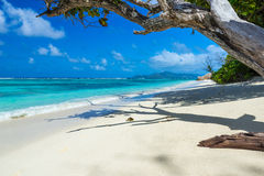Anse Source d'Argent - Beach on island La Digue in Seychelles Royalty Free Stock Images