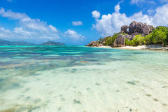 Anse Source d'Argent - Beach on island La Digue in Seychelles Stock Image