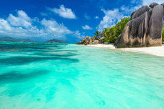 Anse Source d'Argent - Beach on island La Digue in Seychelles Stock Photography