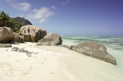 Anse Source d'Argent beach, La Digue Island, Seychelles Royalty Free Stock Photos