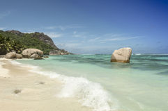 Anse Source d'Argent beach, La Digue Island, Seychelles Stock Photography