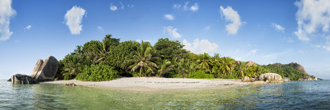 Anse source d'argent beach on la digue island in seychelles Stock Image