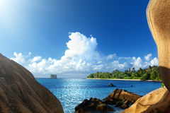 Anse Source d'Argent beach, La Digue island Stock Photography