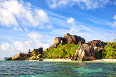 Anse Source d'Argent beach Royalty Free Stock Photography