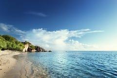 Anse Source d'Argent beach, La Digue island Stock Photo