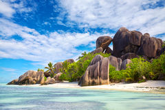 Anse Source d'Argent beach Royalty Free Stock Photos