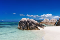 Anse Source d'Argent beach Royalty Free Stock Image
