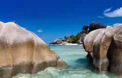 Anse Source d'Argent beach Stock Photos