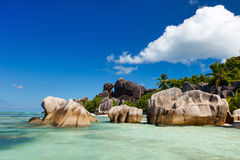 Anse Source d'Argent beach Stock Image