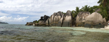 Anse Source D'Argent beach Royalty Free Stock Images