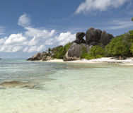 Anse Source D'Argent beach Royalty Free Stock Photo