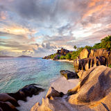 Anse Source d'Argent beach Stock Photography