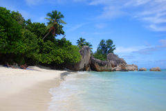 Anse Source d'Argent. Famous beach of Anse Source d'Argent, La Digue, Seychelles Stock Images
