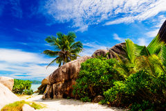 Anse Source d'argent, La Digue island. The Seychelles Stock Images