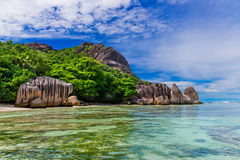 Anse Source d'argent, La Digue island. The Seychelles Stock Photos