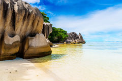 Anse Source d'argent, La Digue island. The Seychelles Royalty Free Stock Photos