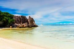 Anse Source d'argent, La Digue island. The Seychelles Stock Photo