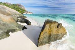 Anse Source D'Argent, La Digue, Seychelles Stock Images