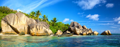 Anse Source d'Argent panorama Stock Photography