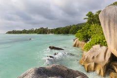 Anse Source D& x27;Argent Evening, Seychelles Stock Images