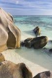 Anse Source D& x27;Argent Overview, La Digue, Seychelles Royalty Free Stock Photos