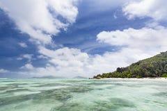 Anse Source D& x27;Argent With Tourists, La Digue, Seychelles Stock Photography