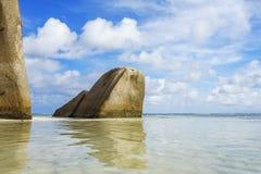 Anse Source de Argent sur des îles des Seychelles Photographie stock