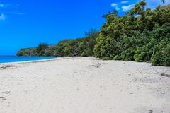 Anse St. Jose beach. Curieuse Island. Indian ocean royalty free stock photography