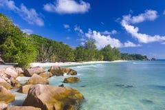 Anse Surowy, Seychelles Fotografia Stock
