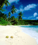 Anse Takamaka. In Mahe, Seychelles Stock Photo