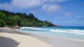 Anse Takamaka, Seychellen Stock Afbeelding