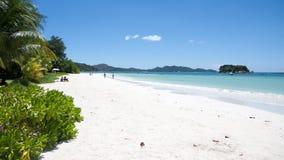 Anse Volbert Beach on Praslin in Seychelles Stock Photos