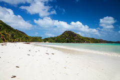 Anse Volbert in Praslin Stock Images
