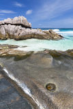 Anse Zusatz-Cedres, La Digue, Seychellen lizenzfreies stockbild