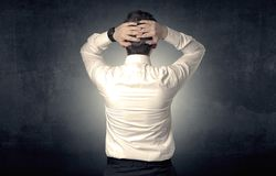 Anseende och tänka för affärsman arkivbilder