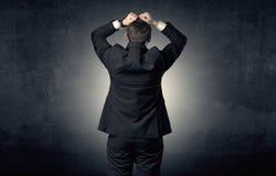 Anseende och tänka för affärsman Arkivfoton