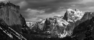 Ansel Adams eat your heart out Yosemite Valley royalty free stock photo