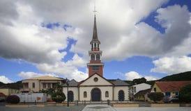 Anses d'arlet village, Martinique, west indies. Famous church of Anses d'arlet village, Martinique, west indies stock images